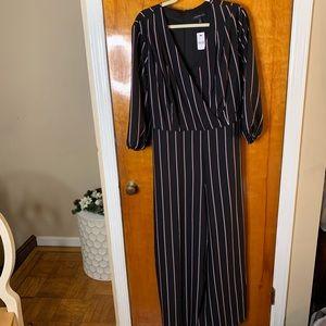 Lane Bryant striped jumpsuit